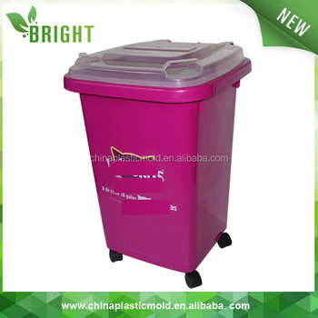 Well known 50l Square Outdoor Plastic Waste Bin/dustbin/garbage Can With  JR76