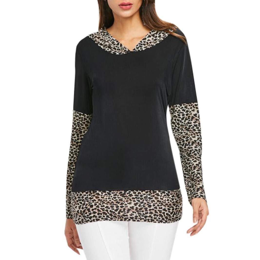 977d349bf Orangeskycn Fashion Women Leopard Print Off Shoulder Blouses Long Sleeve  Tunic Tops Clothing, Shoes & Jewelry