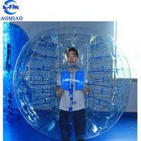 Newest style bubble soccer ball with face hole bumper ball with front window opening