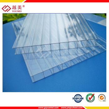 Uv Resistant Transparent Plastic Sheet Pc Hollow Sheet