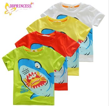 new style children boy clothing colorful baby boy t shirt cartoon printing child t shirt - Printing With Children