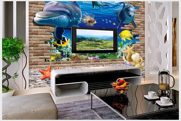 3d art on the floor made in China gypsum wall panels royal design glass floor tile