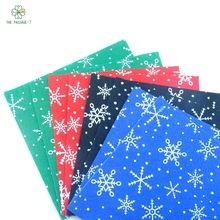 NEWPolyester Felt Fabric Nonwoven font b Christmas b font font b snowflakes b font Snow DIY