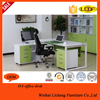 Office furniture executive desk / metal L-shape desk with MDF or steel table top