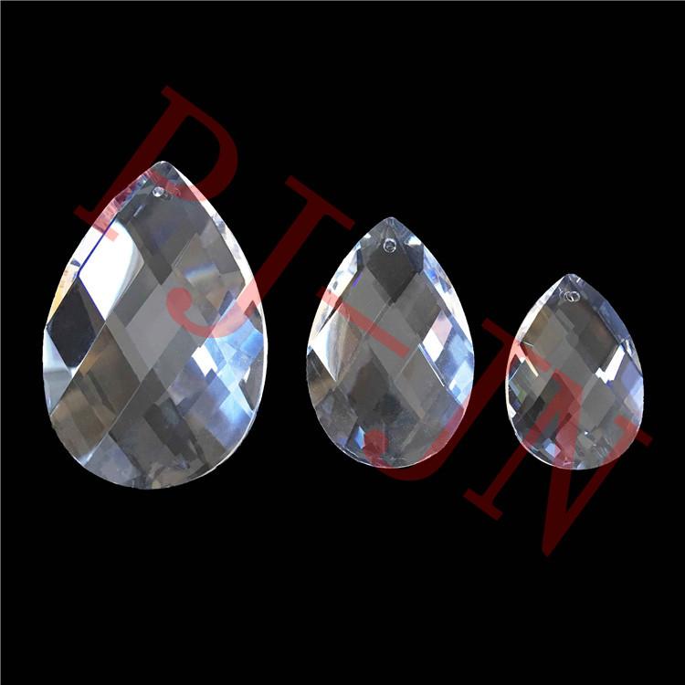 38 mm, transparente 10 colgantes de cristal con forma de l/ágrima transparente