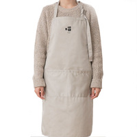 Cute waterproof cotton home kitchen cooking waist custom couple apron