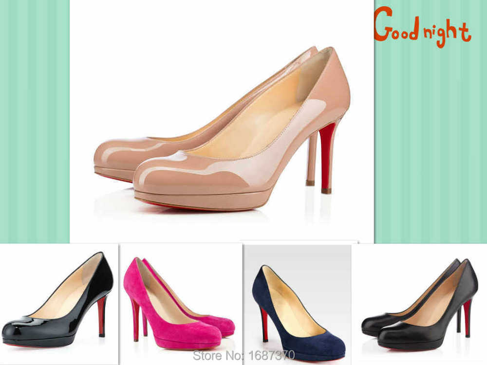 sports shoes 1e3cb f6984 Buy Red sole pumps!Brand New Simple Pumps 100mm Black/Nude ...