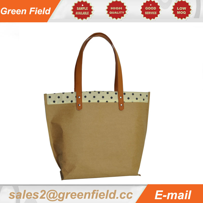 Brown Kraft Paper Handbags Washable Tote Bags Product On