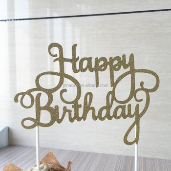 Happy Birthday Pattern Words Cupcake Topper Cp 14