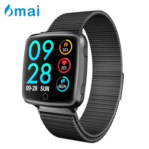 6mai 2019 smart bracelet magnetic watch strap pedometer health tracking heart rate blood pressure waterproof sports smart band