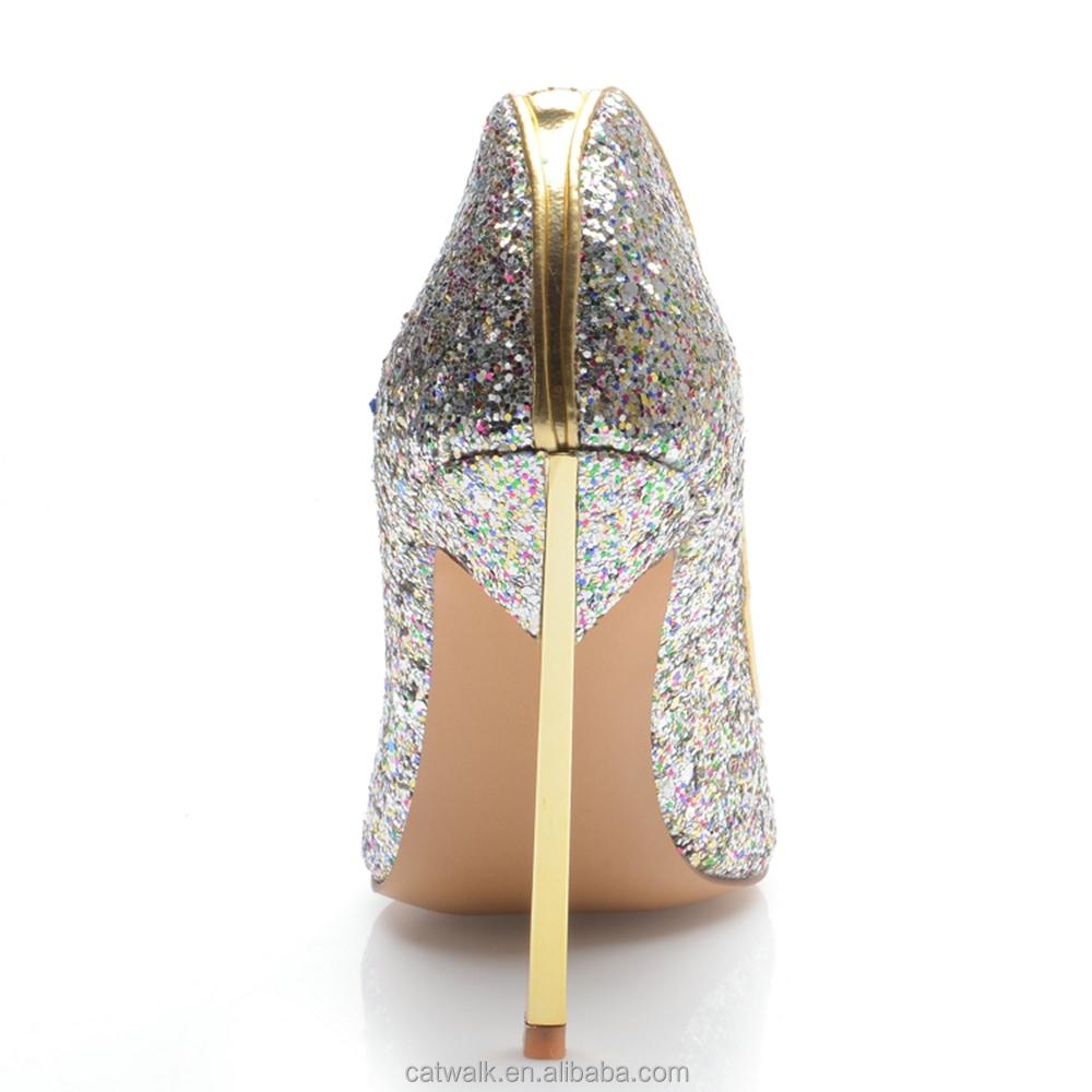 Bling Silver Heels