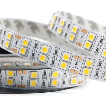 Chins manufacture 12v 24v ip 67 led lighting 5050 rgb double row led strip