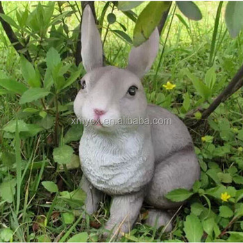 Funny Animal Rabbit Sculpture Garden Statue Ornaments