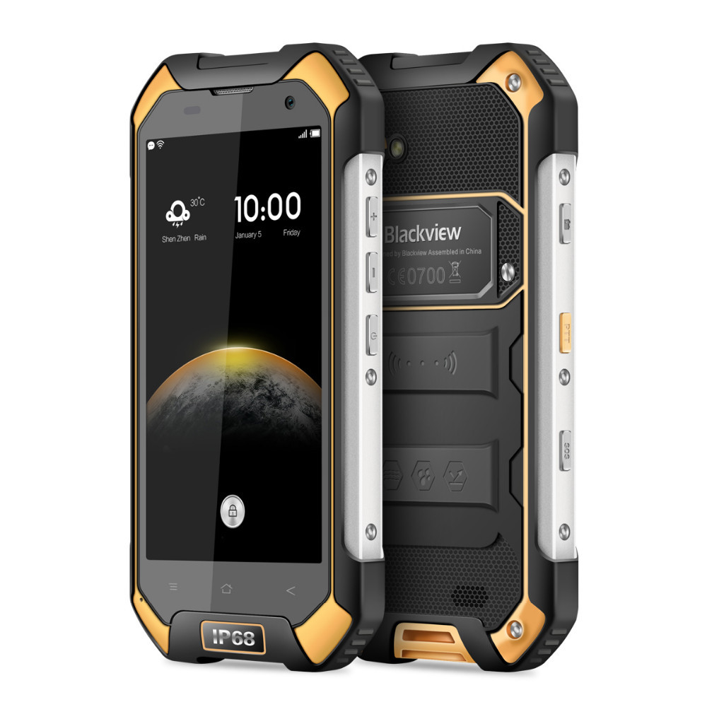 Grosir Blackview BV6000S MTK6737 1.5 GHz Quad Core 4.7 Inch Layar Ponsel Android 6.0 4G LTE NFC Smartphone tahan air