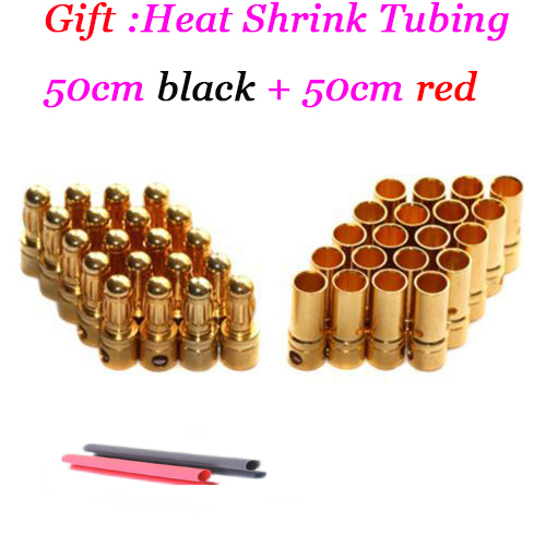 30pairs/lot 3.5mm Gold Bullet Connector Battery ESC Plug for rc helicopter car boat