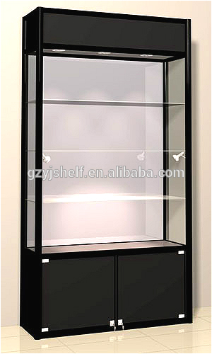 Large Rectangle Tower Showcase White Gl Storage Cabinet