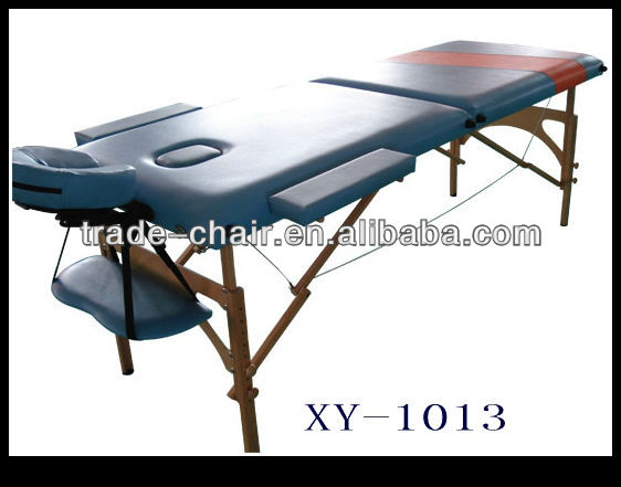 2 section PVC en cuir sooden portable table de massage