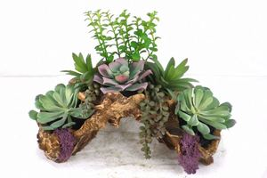 factory direct sale small size fake succulent plants potted plant mini Artificial bonsai