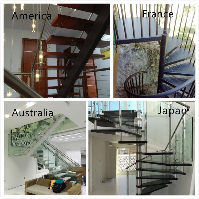 304ss 316ss customized design spigot glass balustrade