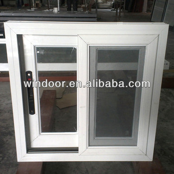 Aluminium Frosted Glass Bathroom Window With Mosquito Net