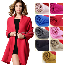 Fashion solid color wrinkled cashmere feel scarf viscose scarf and shawl 2016