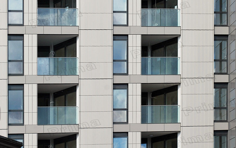 Balcony balustrade aluminium profile for glass railing