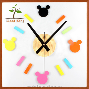 Mickey Mouse Muursticker.Klassieke Cartoon Creatieve Mode Mickey Mouse Diy Klok Combinatie
