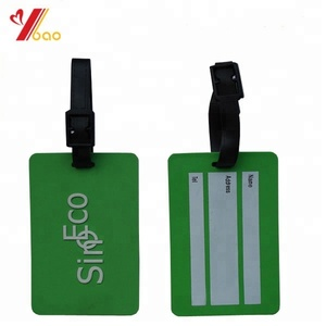 Custom Size Soft PVC Plastic ID Card Luggage Tag