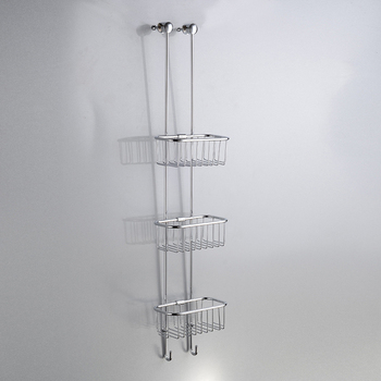 Modern Wall Mounted Bathroom Shelves 3 Tier Metal Fruit Basket Shower Basket Shampoo Rack For Bathroom Buy Shower Shampoo Rack Shower Shampoo