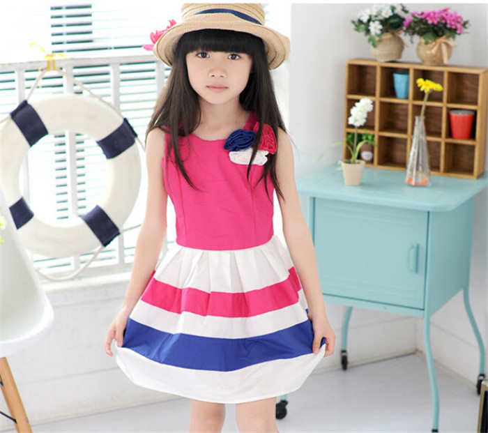 e20a512f63959 7-10 years old my little girl New Style Children Kids Girls Casual Dress For