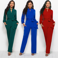 Wholesale 2019 fashion sexy women Straight Drawstring jumpsuits (CYD5071)