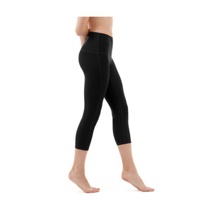 High Waist Black Capri Leggings Black Yoga Pants