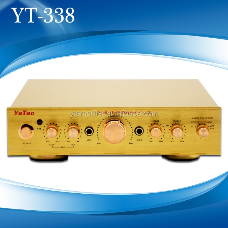 Discount 2016 newest professional audio power amplifier YT-338 support microphone