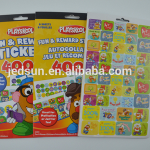 cartoon children sticker book praises character sticker sticker books in different sizes colourful pictures and praises