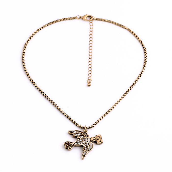 Romance Gift Little Swallow Small Pendant Gold Necklace