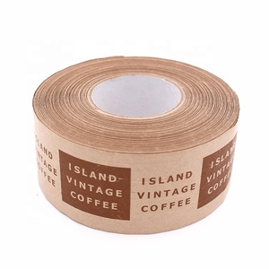 Printed Self Adhesive Kraft Paper Craft Paper Tape for Packing with 120mic*60mm