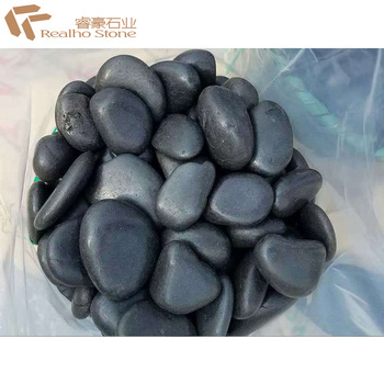 Whole Medium Polished Black River Pebbles Stone Rocks