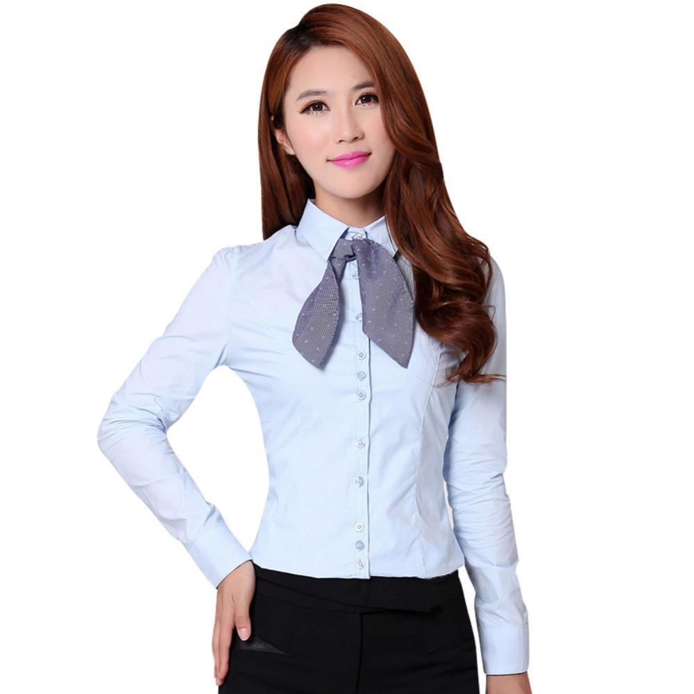 New Office Lady Formal White Shirts Size S 2xl Career Fashion Clothing 2017 Women