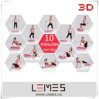 2015 3D new crazy fit massage / vibration plate/ home exercise machine LEMES-S008