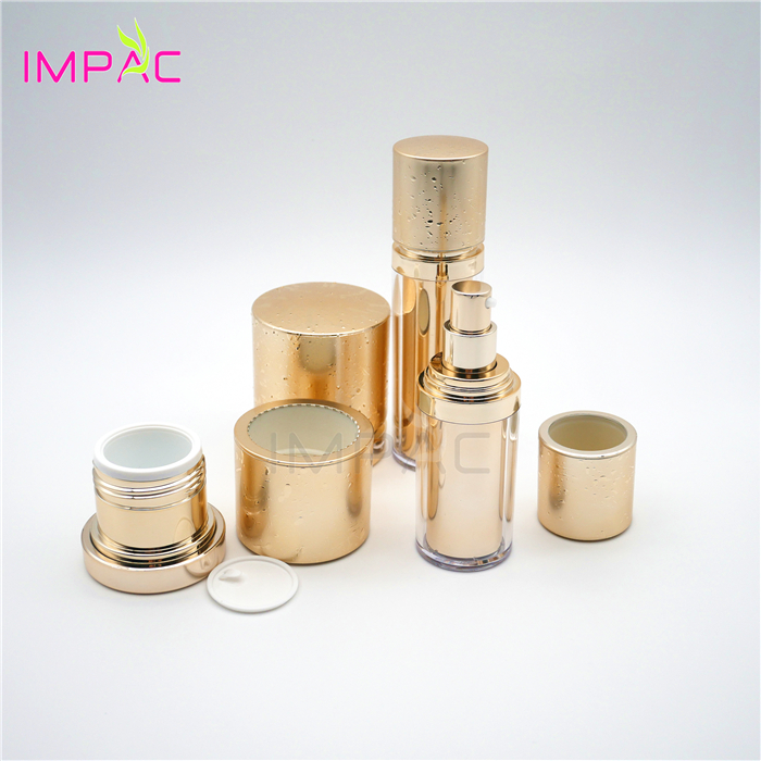 Luxury Cosmetic Facial Cream Round Empty Skin Care Packaging Set