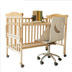 Baby cot bed prices cost-effective,movable modern wooden cot design