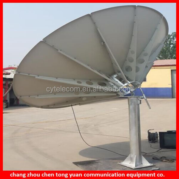 c band ku band 3.7M receive only satellite dish antenna