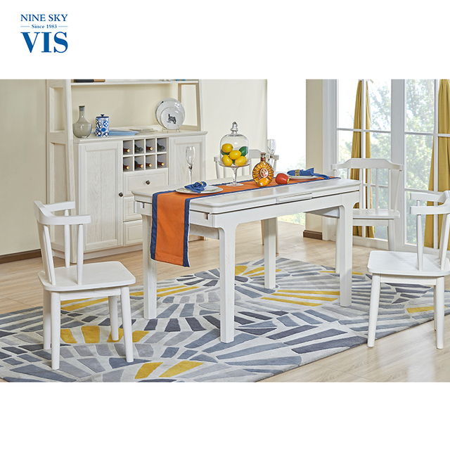 Fashion Modern Contemporary Formal White Kitchen Dining Room Furniture Sets For Sale