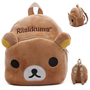 Baby Kids Child Rilakkuma Bear Schoolbag Plush Nursery Small Backpack Rucksack Bag