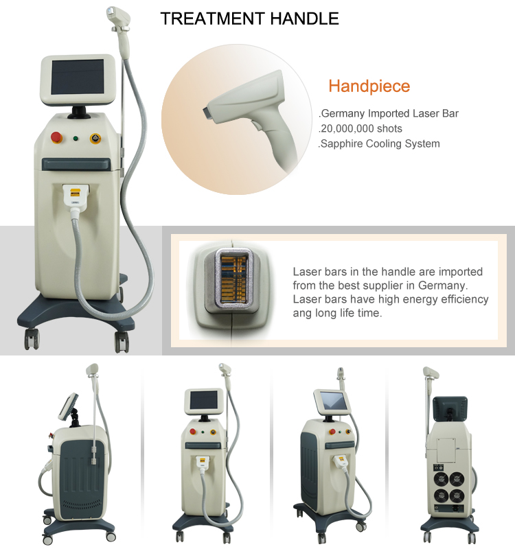 Medical Equipment Laser permanent hair removal 808nm Diode Laser Hair Removal Machine