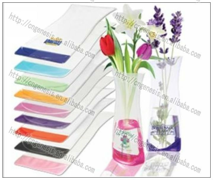 2016 Pvc Foldable Flower Vasecollapsible Plastic Flower Vase Buy