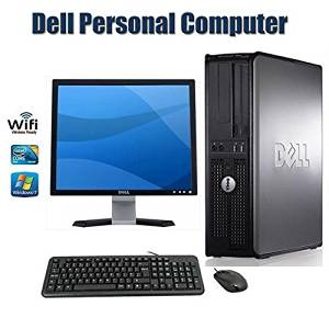 Dell OptiPlex 780 Desktop Computer with 17 Inch Dell Monitor- Intel Core 2 Duo 2.93 GHz 4GB RAM 160GB HDD DVD ROM Windows 7 Pro 64 Bit Keyboard, Mouse - WiFi