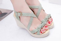Newest platform shoes summer casual lady fashion woman sandals wedge heel