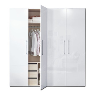 high gloss white lacquer coating wardrobe