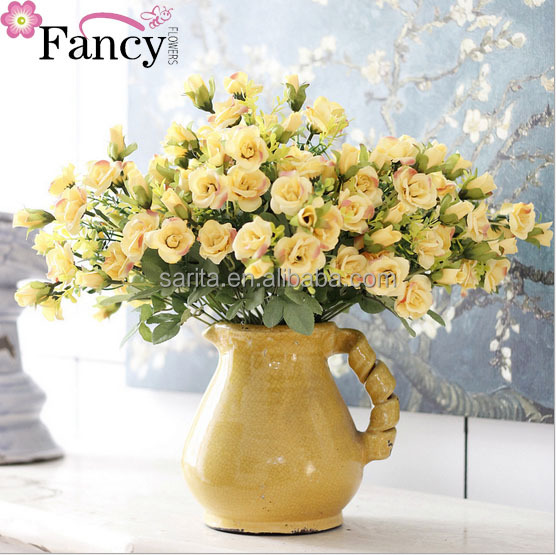 Wedding roses artificial flower factory direct wholesale 18 heads cloth rose wedding photography with flowers wall layout